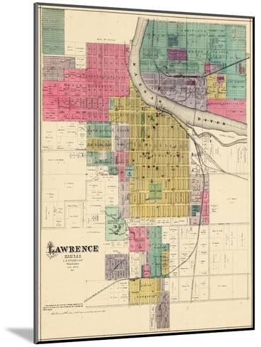 1887, Lawrence, Kansas, United States--Mounted Giclee Print