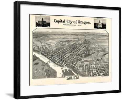 1905, Salem Bird's Eye View, Oregon, United States--Framed Art Print