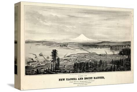 1878, Tacoma and Mount Rainier Bird's Eye View, Washington, United States--Stretched Canvas Print