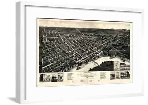1887, Selma Bird's Eye View, Alabama, United States--Framed Art Print