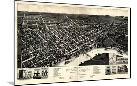 1887, Selma Bird's Eye View, Alabama, United States--Mounted Giclee Print