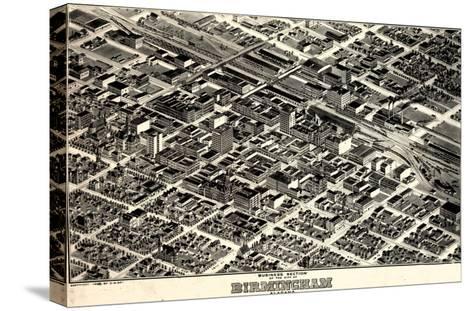 1903, Birmingham Bird's Eye View, Alabama, United States--Stretched Canvas Print