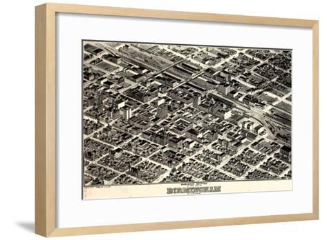 1903, Birmingham Bird's Eye View, Alabama, United States--Framed Art Print