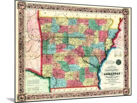 1854, Arkansas State Map, Arkansas, United States--Mounted Giclee Print