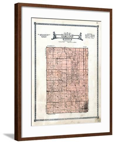 1922, Oakland Township, Nebraska, United States--Framed Art Print
