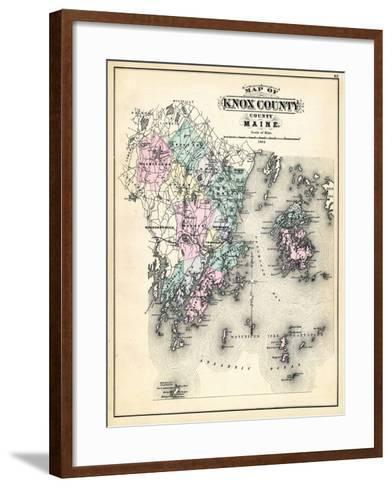 1884, Knox County Map, Maine, United States--Framed Art Print