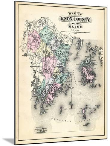 1884, Knox County Map, Maine, United States--Mounted Giclee Print