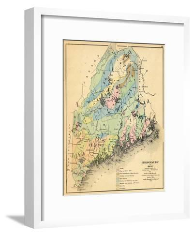 1884, Maine Geological Map, Maine, United States--Framed Art Print