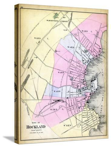 1884, Rockland City, Maine, United States--Stretched Canvas Print