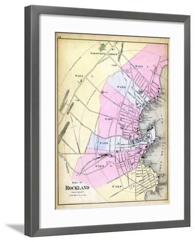 1884, Rockland City, Maine, United States--Framed Art Print