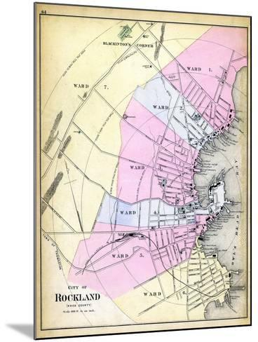 1884, Rockland City, Maine, United States--Mounted Giclee Print