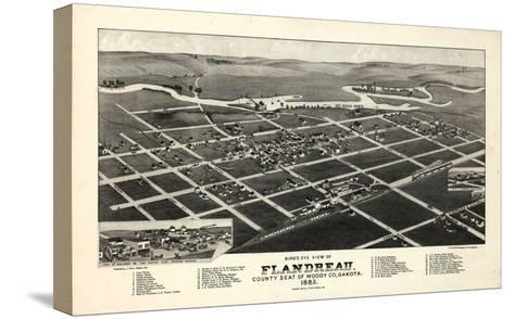 1883, Flandreau Bird's Eye View, South Dakota, United States--Stretched Canvas Print