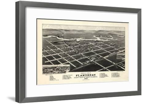 1883, Flandreau Bird's Eye View, South Dakota, United States--Framed Art Print