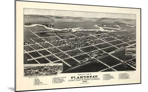 1883, Flandreau Bird's Eye View, South Dakota, United States--Mounted Giclee Print