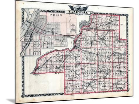 1876, Tazewell County Map, Illinois, United States--Mounted Giclee Print