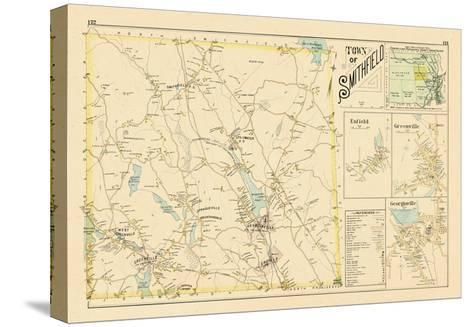 1895, Smithfield, Enfield, Greenville, Georgiaville, Rhode Island, United States--Stretched Canvas Print