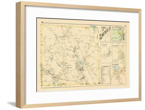 1895, Smithfield, Enfield, Greenville, Georgiaville, Rhode Island, United States--Framed Art Print