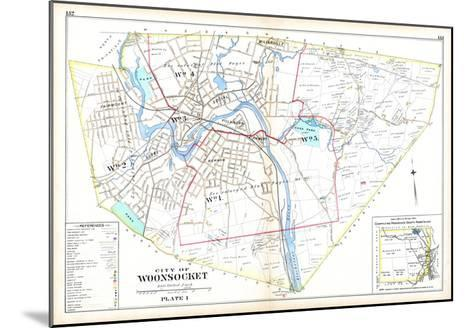 1895, Woonsocket City, Rhode Island, United States--Mounted Giclee Print