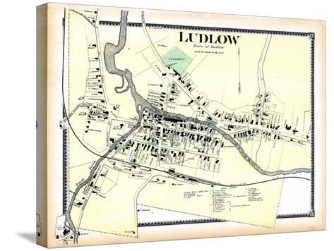 1869, Ludlow Town, Vermont, United States--Stretched Canvas Print
