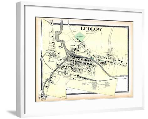 1869, Ludlow Town, Vermont, United States--Framed Art Print