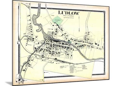 1869, Ludlow Town, Vermont, United States--Mounted Giclee Print
