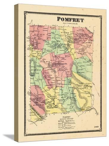1869, Pomfret, Vermont, United States--Stretched Canvas Print