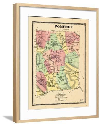 1869, Pomfret, Vermont, United States--Framed Art Print