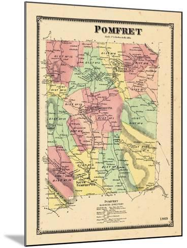 1869, Pomfret, Vermont, United States--Mounted Giclee Print