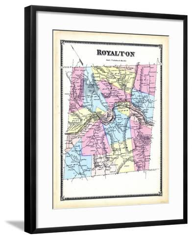 1869, Royalton, Vermont, United States--Framed Art Print