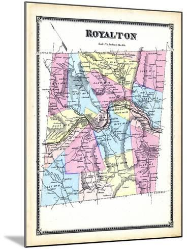 1869, Royalton, Vermont, United States--Mounted Giclee Print