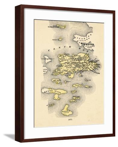 1871, Great Chebeague Island, Maine, United States--Framed Art Print