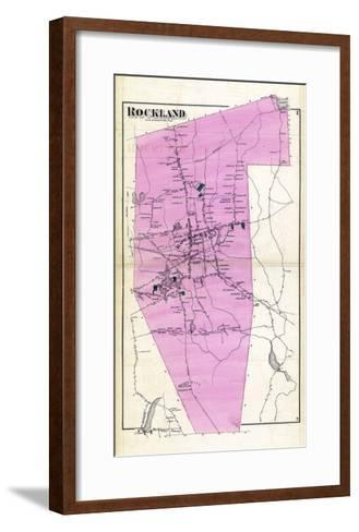 1874, Rockland, Massachusetts, United States--Framed Art Print