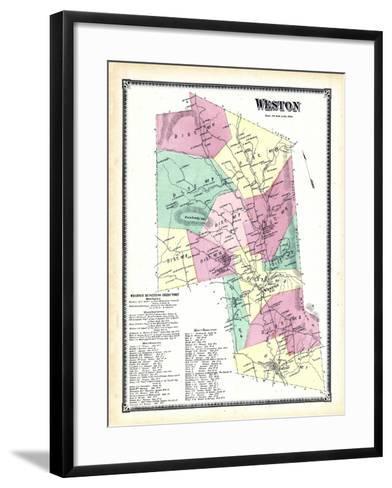 1869, Weston, Vermont, United States--Framed Art Print