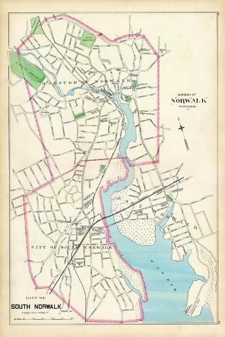 1893, Norwalk Borough, South Norwalk City, Connecticut, United States--Stretched Canvas Print