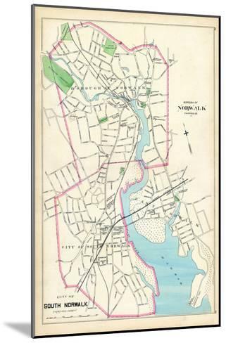 1893, Norwalk Borough, South Norwalk City, Connecticut, United States--Mounted Giclee Print
