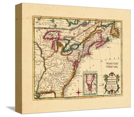 1763, Connecticut, Florida, Georgia, Maine, Massachusetts, New Hampshire, New Jersey, New York--Stretched Canvas Print