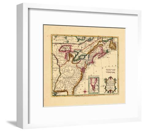 1763, Connecticut, Florida, Georgia, Maine, Massachusetts, New Hampshire, New Jersey, New York--Framed Art Print