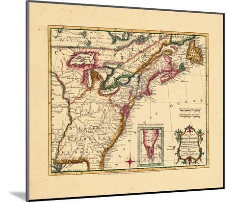 1763, Connecticut, Florida, Georgia, Maine, Massachusetts, New Hampshire, New Jersey, New York--Mounted Giclee Print