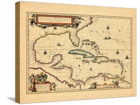 1635, West Indies, Central America--Stretched Canvas Print