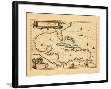 1635, West Indies, Central America--Framed Art Print