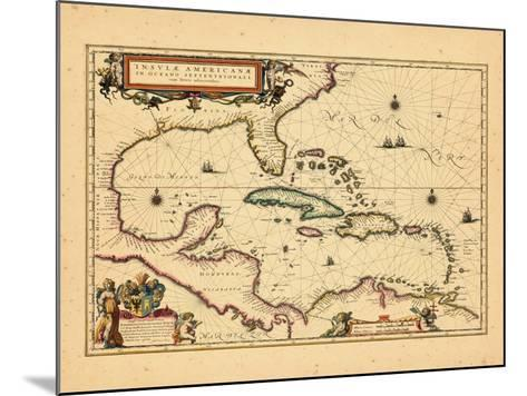 1635, West Indies, Central America--Mounted Giclee Print