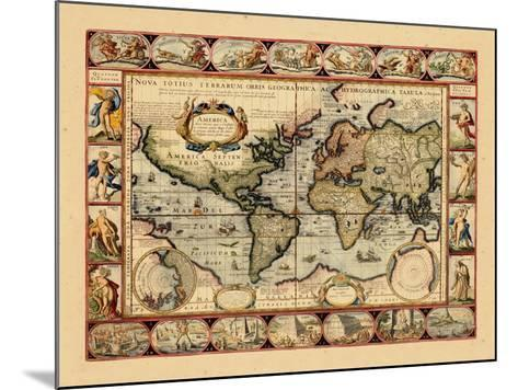 1631, World--Mounted Giclee Print