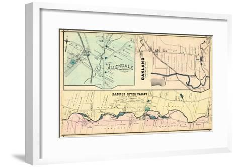 1876, Allendale, Oakland, Saddle River Valley, New Jersey, United States--Framed Art Print