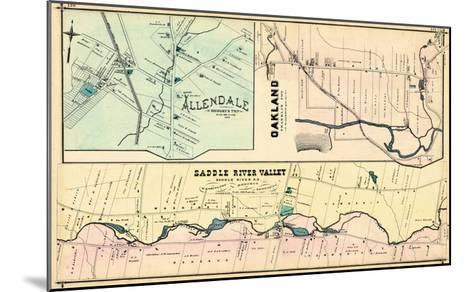 1876, Allendale, Oakland, Saddle River Valley, New Jersey, United States--Mounted Giclee Print