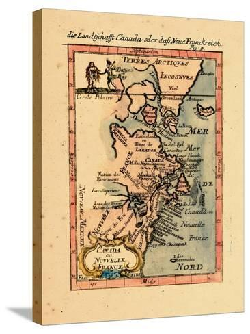 1686, Connecticut, Greenland, Maine, Massachusetts, New Brunswick, New Hampshire--Stretched Canvas Print