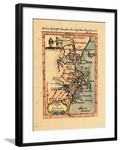 1686, Connecticut, Greenland, Maine, Massachusetts, New Brunswick, New Hampshire--Framed Art Print