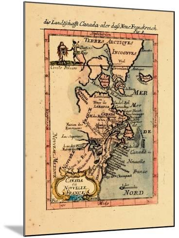 1686, Connecticut, Greenland, Maine, Massachusetts, New Brunswick, New Hampshire--Mounted Giclee Print