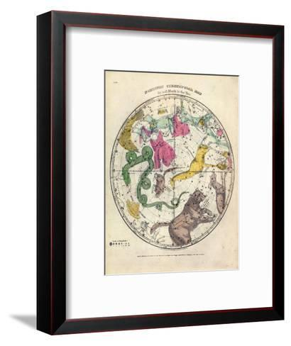 1835, Circumpolar Map Northern, Constellations--Framed Art Print