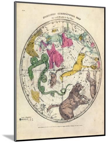 1835, Circumpolar Map Northern, Constellations--Mounted Giclee Print