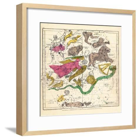 1835, Constellations April - June--Framed Art Print